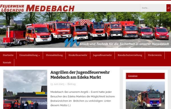Vorschau von www.feuerwehr-medebach.de, Freiwillige Feuerwehr Löschzug Medebach