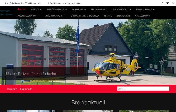 Vorschau von www.feuerwehr-oberschledorn.de, Freiwillige Feuerwehr Oberschledorn