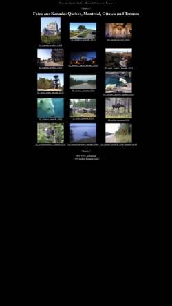 Vorschau der mobilen Webseite www.50links.de, Reisefotos aus Kanada