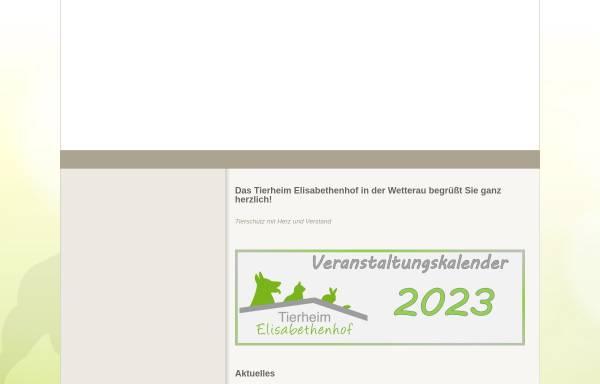 Vorschau von www.tierheim-elisabethenhof.de, Tierheim Elisabethenhof