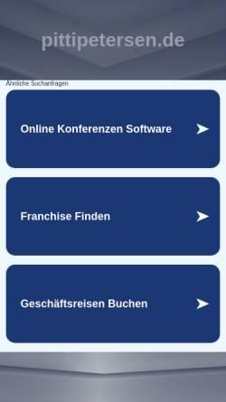 Vorschau der mobilen Webseite pittipetersen.de, Petersen, Klaus-Dieter