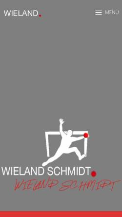 Vorschau der mobilen Webseite www.wielandschmidt.de, Schmidt, Wieland