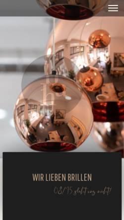 Vorschau der mobilen Webseite www.brillenhaus.ch, Brillenhaus Bofinger Aarau