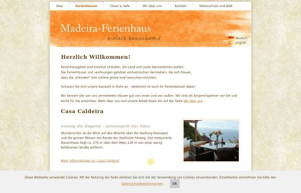 Vorschau von www.madeira-ferienhaus.de, Madeira Ferienhaus