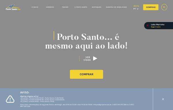 Vorschau von www.portosantoline.pt, Porto Santo Line
