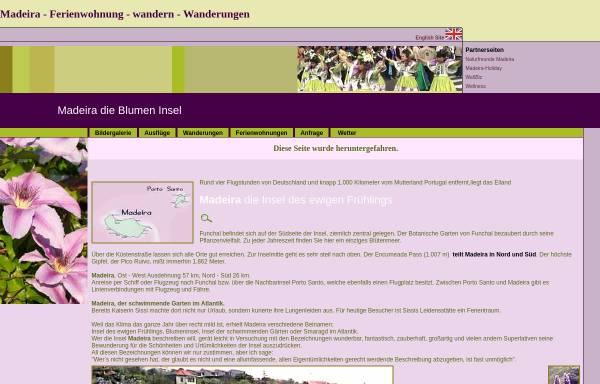 Vorschau von www.madeira-f-vetter.com, Wanderungen [Franz Vetter]