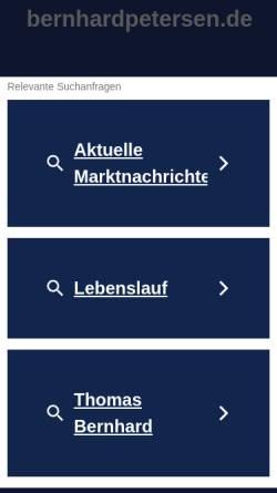 Vorschau der mobilen Webseite www.bernhardpetersen.de, Psychologische Praxis Bernhard Petersen