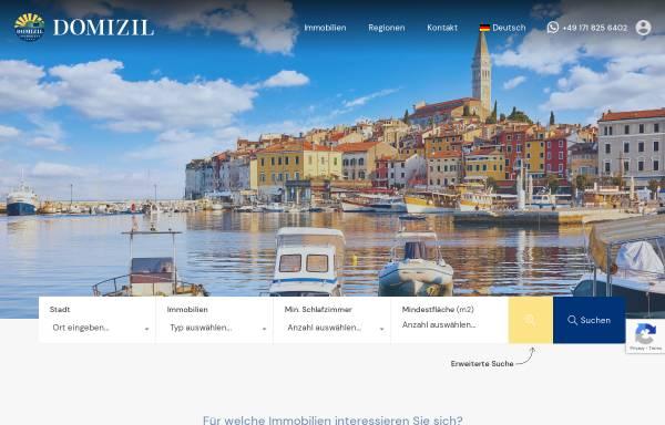 Vorschau von www.domizil-immobilien.de, Domizil Immobilien