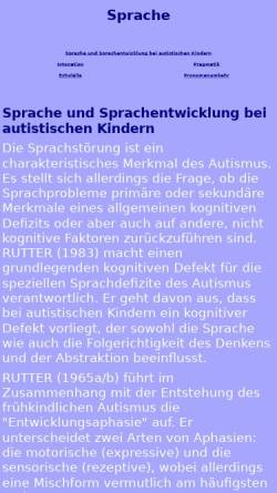 Vorschau der mobilen Webseite www.autismus-web.de, Einführung