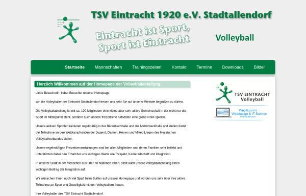 Vorschau von volleyball.eintracht-stadtallendorf.de, TSV Eintracht Stadtallendorf Abteilung Volleyball