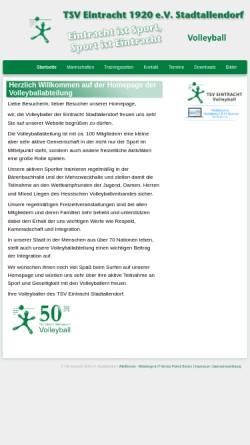 Vorschau der mobilen Webseite volleyball.eintracht-stadtallendorf.de, TSV Eintracht Stadtallendorf Abteilung Volleyball