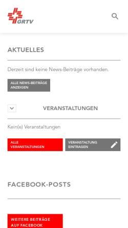 Vorschau der mobilen Webseite grtv.ch, Graubündner Turnverband