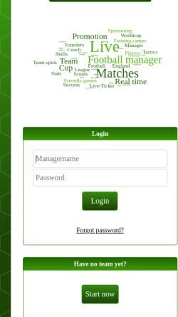 Vorschau der mobilen Webseite madegames.com, MaDe Games GbR