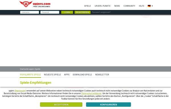 Vorschau von www.upjers.com, Upjers GmbH & Co. KG