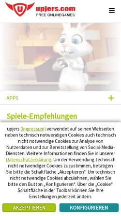 Vorschau der mobilen Webseite www.upjers.com, Upjers GmbH & Co. KG