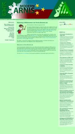 Vorschau der mobilen Webseite www.arnis-bremen.de, Modern Arnis in Bremen