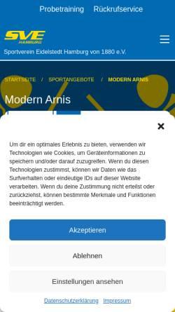 Vorschau der mobilen Webseite www.fma-arnis.de, Modern Arnis in Hamburg Eidelstedt