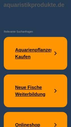 Vorschau der mobilen Webseite www.aquaristikprodukte.de, Aquaristikprodukte Ltd.