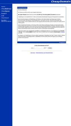 Vorschau der mobilen Webseite www.cheapdomain.de, CheapDomain