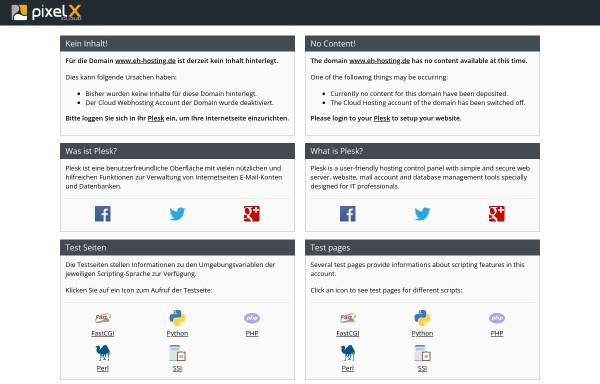Vorschau von www.eh-hosting.de, EH-Hosting
