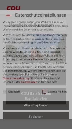 Vorschau der mobilen Webseite www.cdu-bad-salzuflen.de, CDU Bad Salzuflen