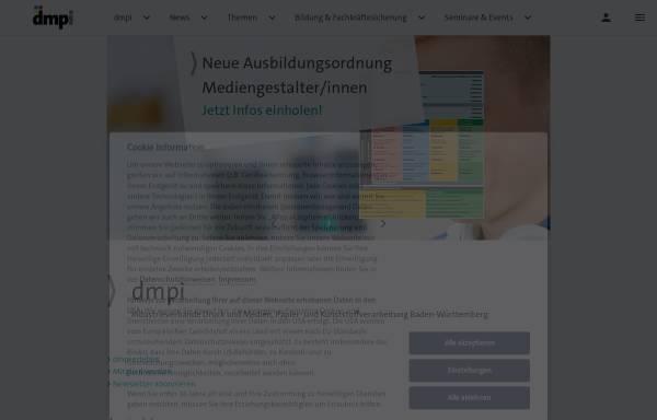 Vorschau von www.verband-druck-bw.de, Verein Bildung - Druck, Papierverarbeitung und Medien in Baden-Württemberg e. V.