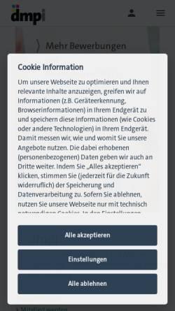 Vorschau der mobilen Webseite www.verband-druck-bw.de, Verein Bildung - Druck, Papierverarbeitung und Medien in Baden-Württemberg e. V.