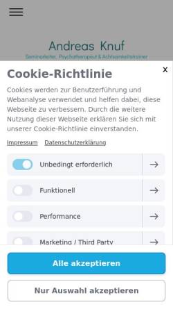 Vorschau der mobilen Webseite www.andreas-knuf.de, Andreas Knuf