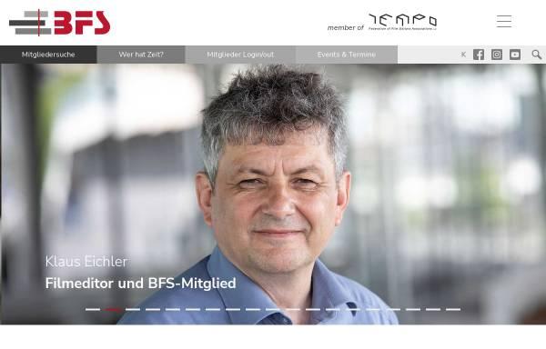 Vorschau von www.bfs-filmeditor.de, Bundesverband Filmschnitt Editor e.V. (BFS)