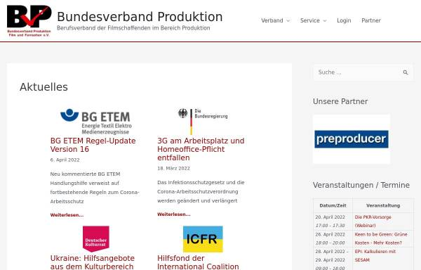 Vorschau von www.bv-produktion.de, BVP - Bundesverband Produktion e.V.