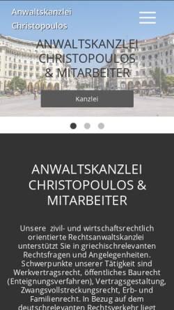 Vorschau der mobilen Webseite www.christopoulos.de, Christopoulos & Kollegen