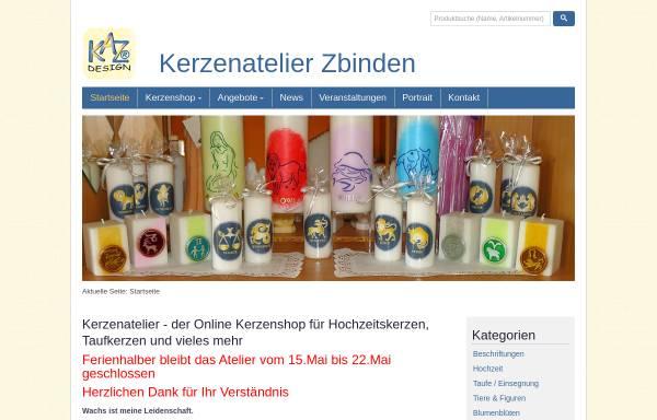 Vorschau von www.kerzenatelier.ch, Kerzen-Atelier, Rüscheg