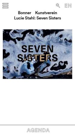 Vorschau der mobilen Webseite www.bonner-kunstverein.de, Bonner Kunstverein