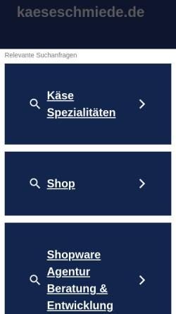 Vorschau der mobilen Webseite www.kaeseschmiede.de, Molkerei Lünzener Käseschmiede