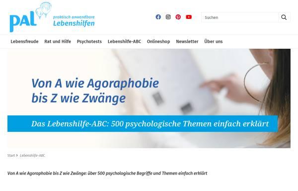 Vorschau von www.palverlag.de, Online Lexikon der Lebenshilfe