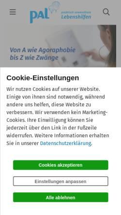 Vorschau der mobilen Webseite www.palverlag.de, Online Lexikon der Lebenshilfe