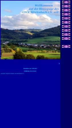 Vorschau der mobilen Webseite www.owk-moerlenbach.de, Odenwaldklub Mörlenbach
