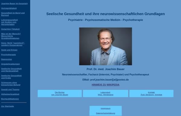 Vorschau von www.psychotherapie-prof-bauer.de, Seelische Gesundheit