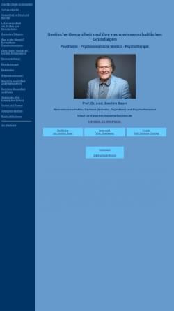 Vorschau der mobilen Webseite www.psychotherapie-prof-bauer.de, Seelische Gesundheit