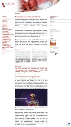 Vorschau der mobilen Webseite www.hp-fundconsult.de, HP-Fund Consult - Hugo W. Pettendrup