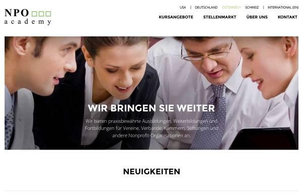 Vorschau von www.npo-akademie.at, NPO Akademie - Hütter. MC Management Consulting GmbH