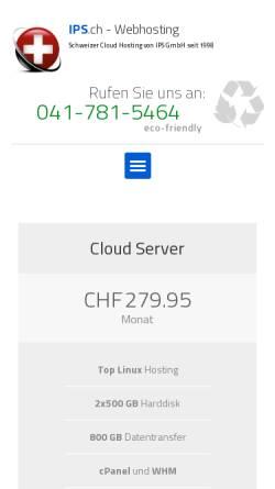Vorschau der mobilen Webseite www.ips.ch, IPS GmbH