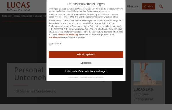 Vorschau von www.lucasct.de, Lucas Consulting Team Personal- und Unternehmensberatung