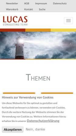 Vorschau der mobilen Webseite www.lucasct.de, Lucas Consulting Team Personal- und Unternehmensberatung