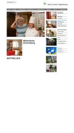 Vorschau der mobilen Webseite www.wohnheim-zuerichberg.ch, Wohnheim Zürichberg