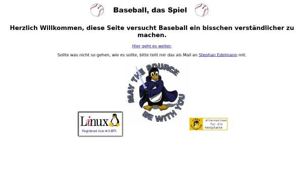 Vorschau von www.mupf.de, Baseball, das Spiel