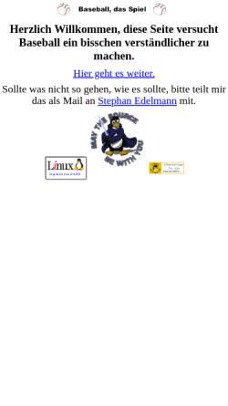 Vorschau der mobilen Webseite www.mupf.de, Baseball, das Spiel