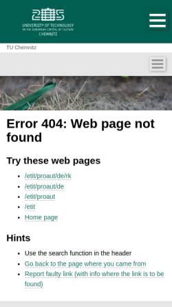 Vorschau der mobilen Webseite www.tu-chemnitz.de, RoboKing