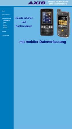 Vorschau der mobilen Webseite www.axib.de, AXIB