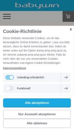 Vorschau der mobilen Webseite www.babywin.de, Babywin.de - Elena Zaiser